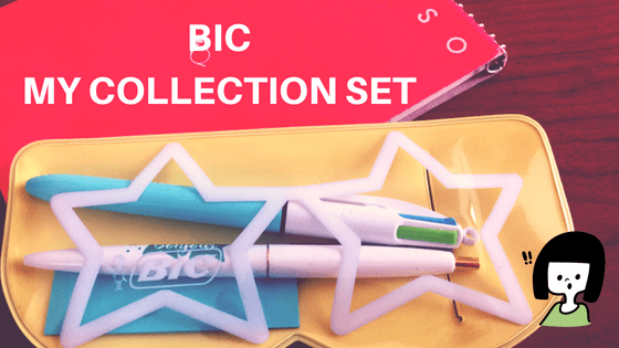 BIC 4色ボールペン マイコレクションセットでノートを鮮やかに