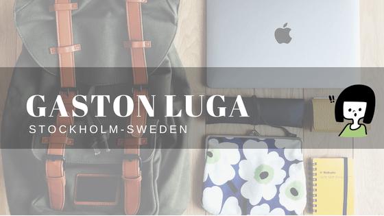 【ガストン・ルーガ】スウェーデン生まれ 旅好きのためのバックパック(PR)