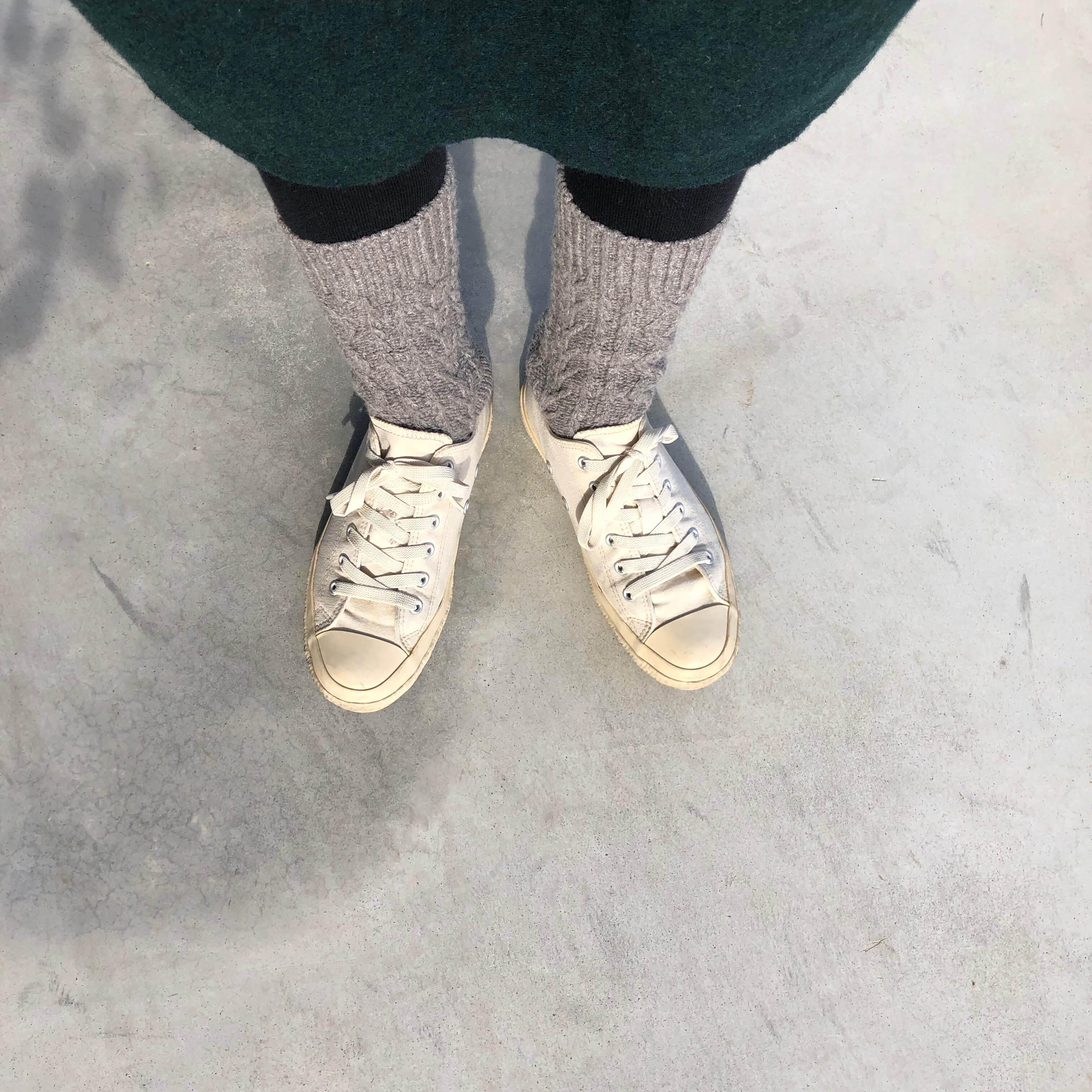 わざわざオリジナル アランウール靴下